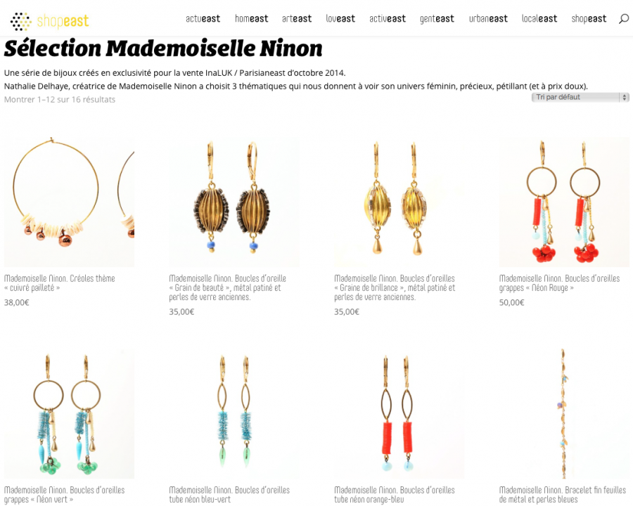 Mademoiselle Ninon pour Parisianeast  et Ina Luk