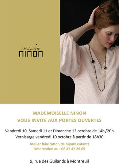Création de Mademoiselle Ninon, créatrice parisienne