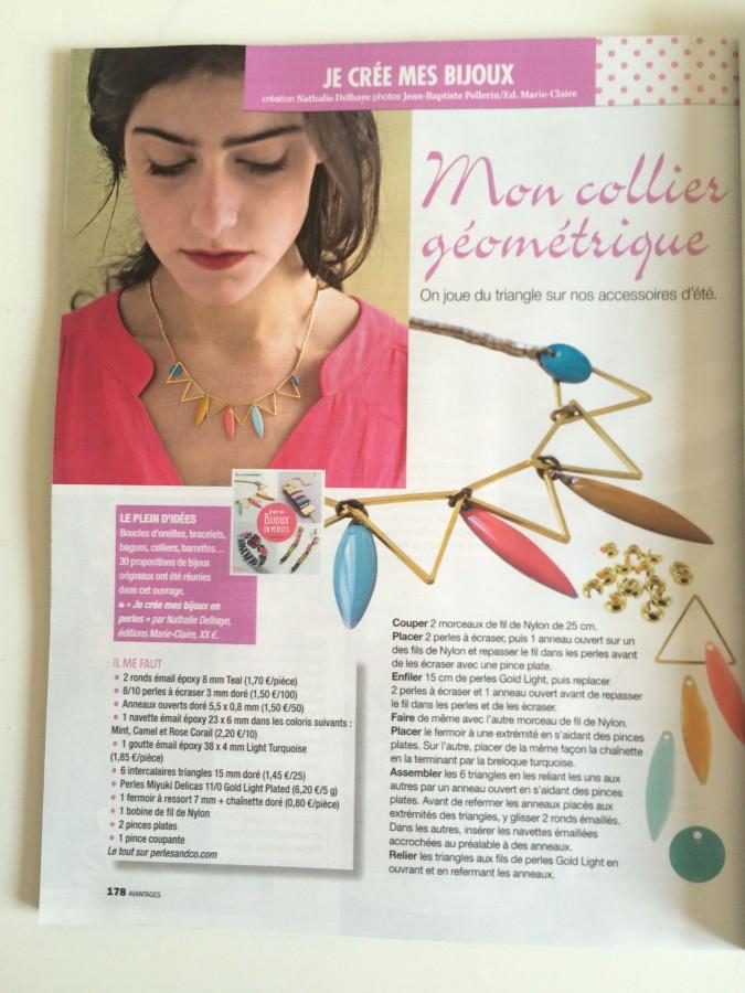 Bijoux inspiration géométrique