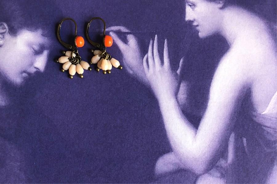 Boucles doreilles en cristal de couleurs